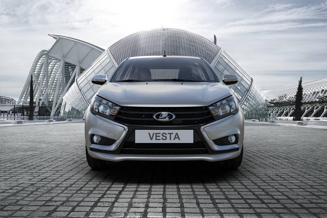Lada Vesta с силовой установкой, работающей на бензине и газе.