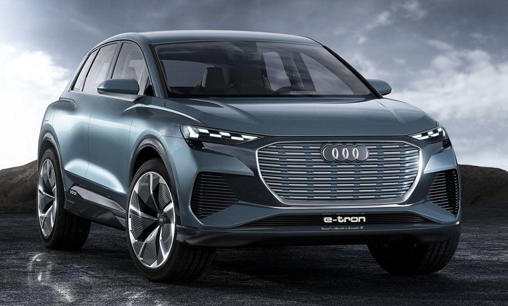 Электрический кроссовер Audi Q4 e-tron concept 2019 года