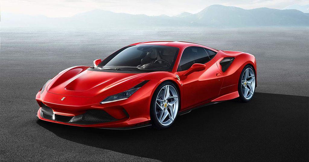 итальянский спорткар Ferrari F8 Tributo 2019 2020 модельного года