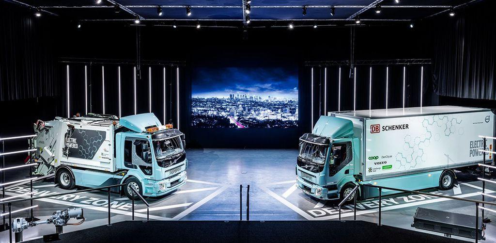 фото электрические грузовики Volvo FE Electric и Volvo FL Electric