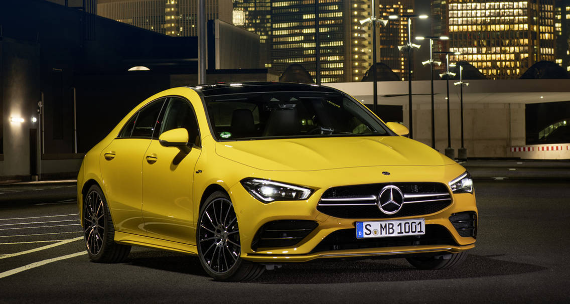 Четырехдверный седан Mercedes-AMG CLA 35 4Matic 2019-2020 года