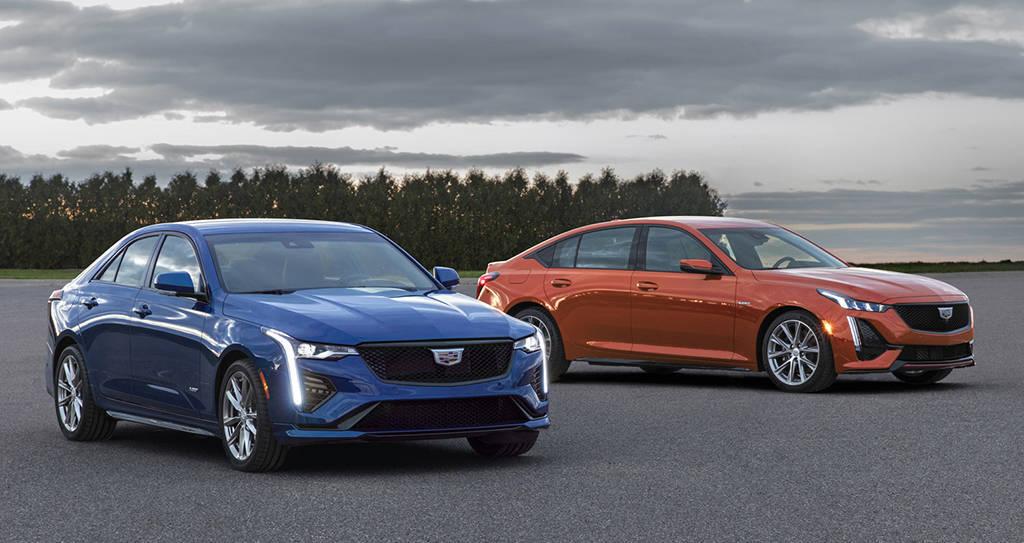 Подогретые седаны Cadillac CT4-V и Cadillac CT5-V 2020-2020
