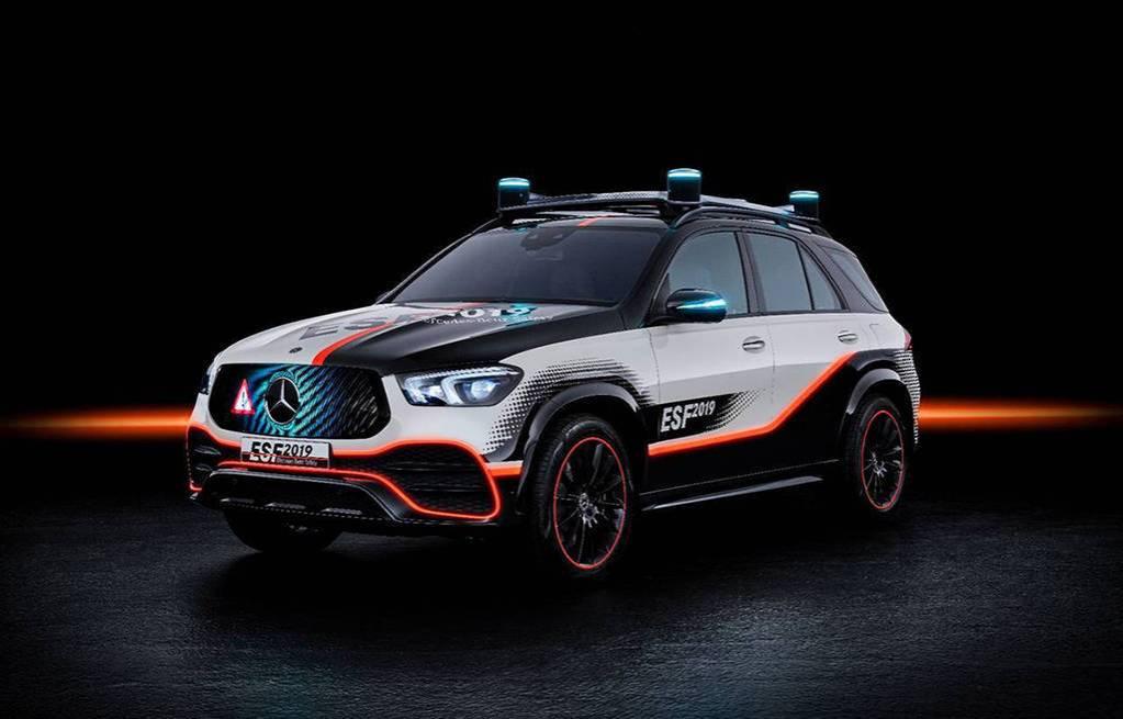Опытный образец Mercedes-Benz GLE ESF 2019
