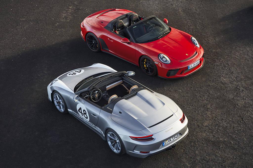 Родстер Porsche 911 Speedster 2019-2020 с мягкой складной крышей