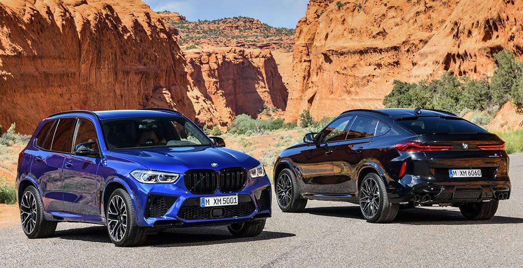 Заряженные кроссоверы BMW X5 M и BMW X6 M 2020-2021