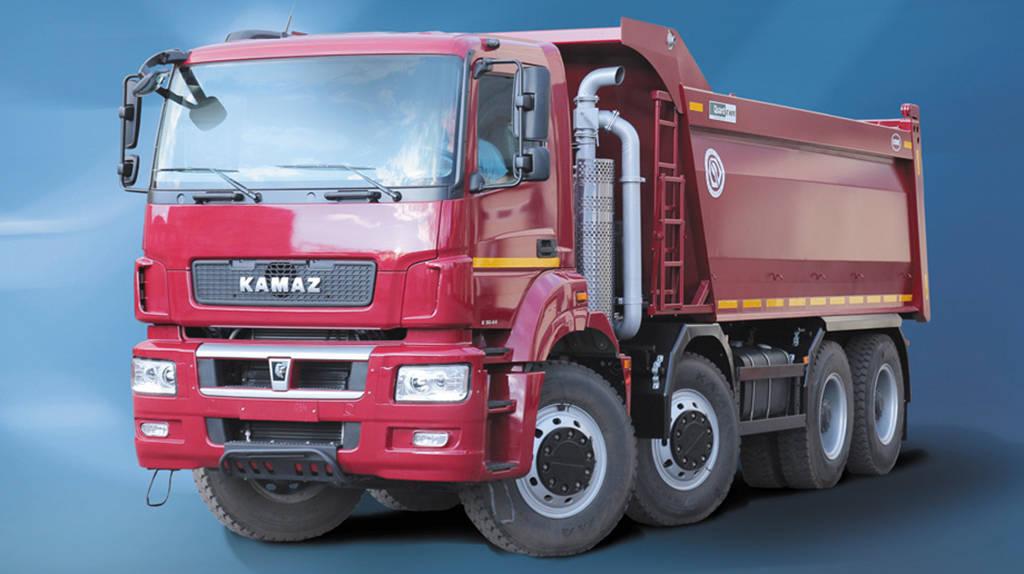 Новые самосвалы KAMAZ-6580