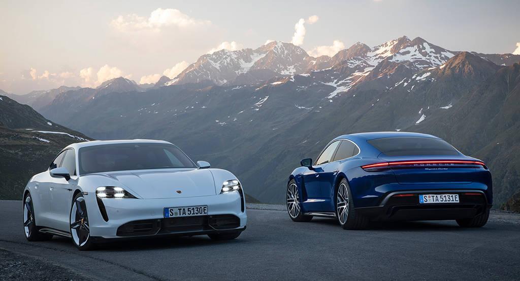 Первый электрический седан Porsche Taycan 2020