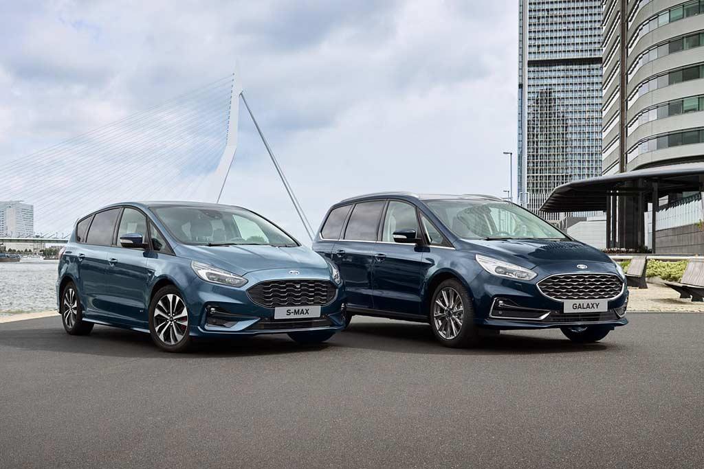 Обновленные минивэны Ford S-Max и Galaxy 2020