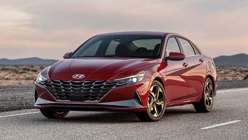 Седан Hyundai Elantra 2020-2021 седьмого поколения