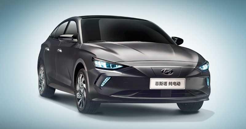 новый электрический седан Hyundai Lafesta EV 2020