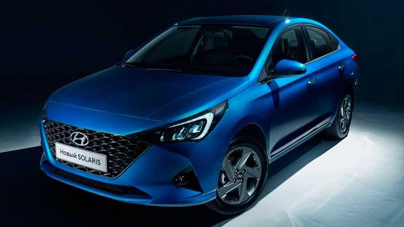 Обновленный седан Hyundai Solaris 2020 для России