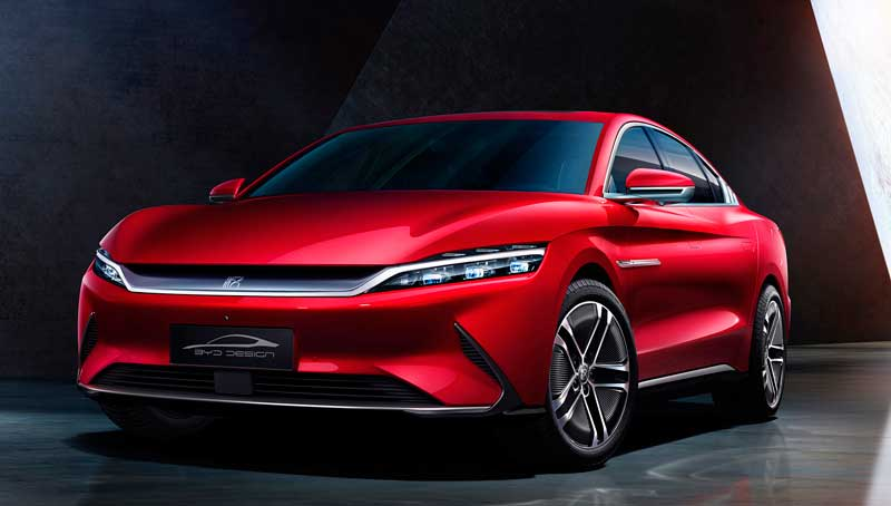Электрический седан BYD Han EV 2020
