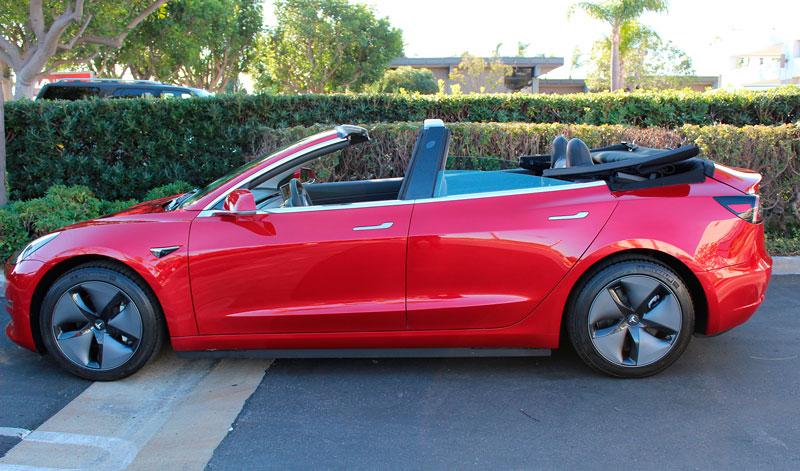Кабриолет Tesla Model 3 от ателье NCE
