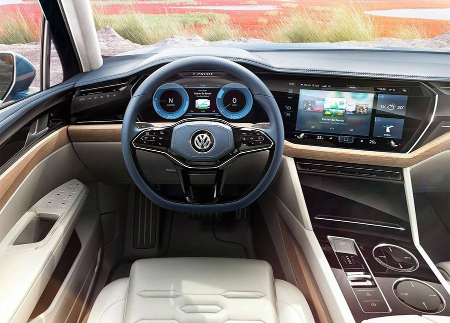 Фото салона Volkswagen T-Prime GTE Concept 2016-2017