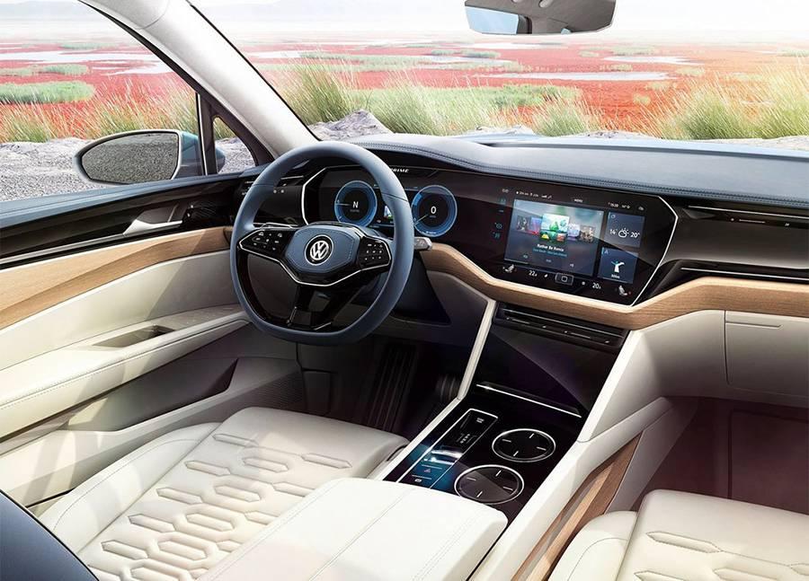 Фото интерьера Volkswagen T-Prime GTE Concept 2016-2017