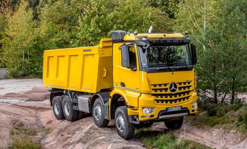 Новый грузовик Mercedes Benz Arocs Truck 2021