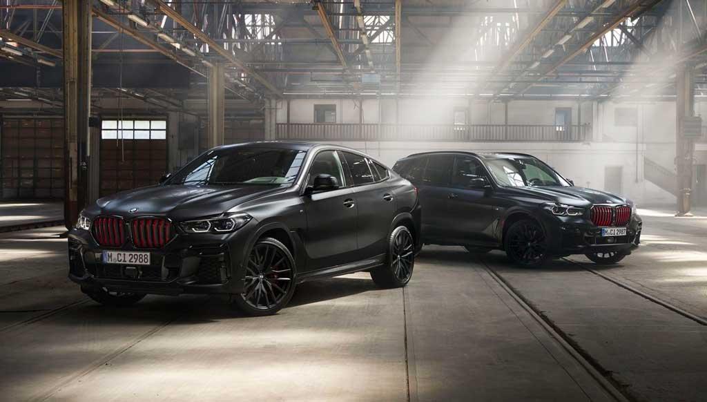 Кроссоверы BMW X5 и X6 Black Vermilion edition 2022