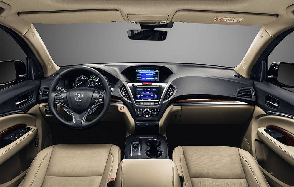 Салон Acura MDX 2016-2017 модельного года