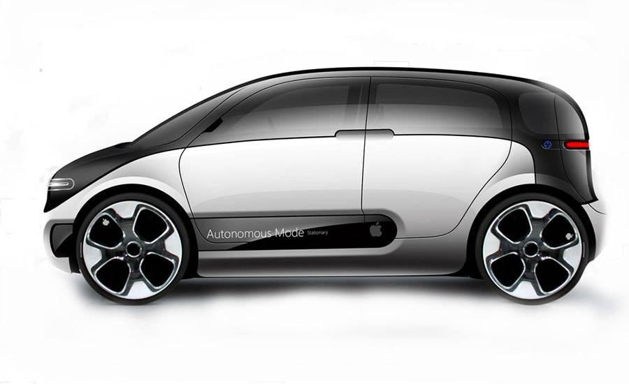 картинки электромобиль Apple Car 2019-2020