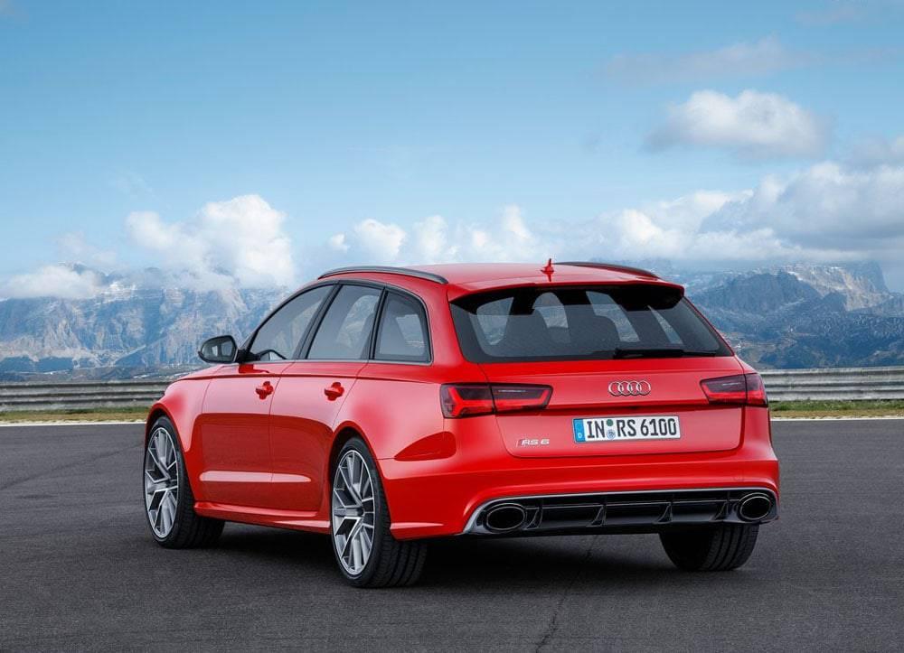 Audi RS6 Avant performance 2016-2017 модельного года - вид сзади