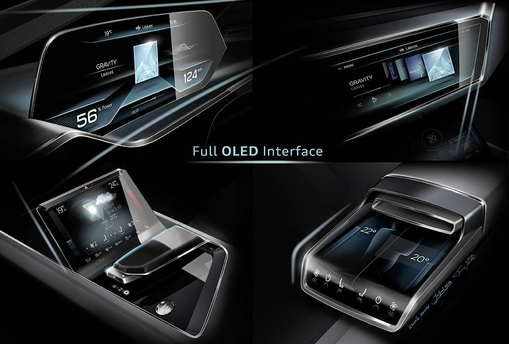 Audi e-tron quattro concept (OLED technology)