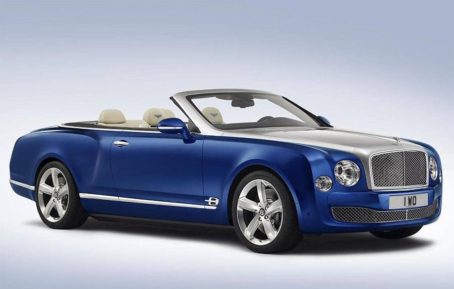 Bentley Mulsanne Convertible 2016-2017 года фото