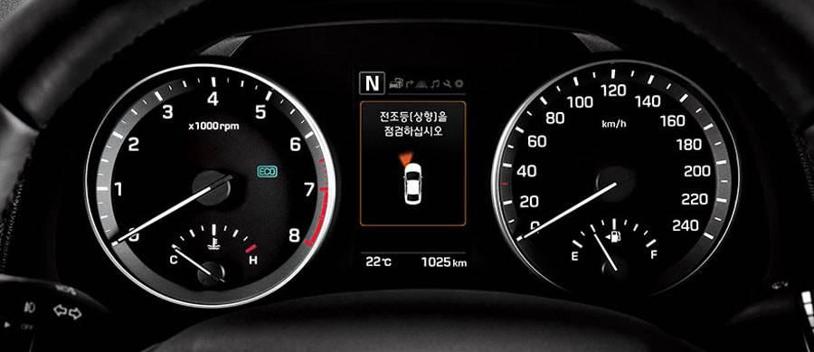 Фото панели приборов Hyundai Elantra