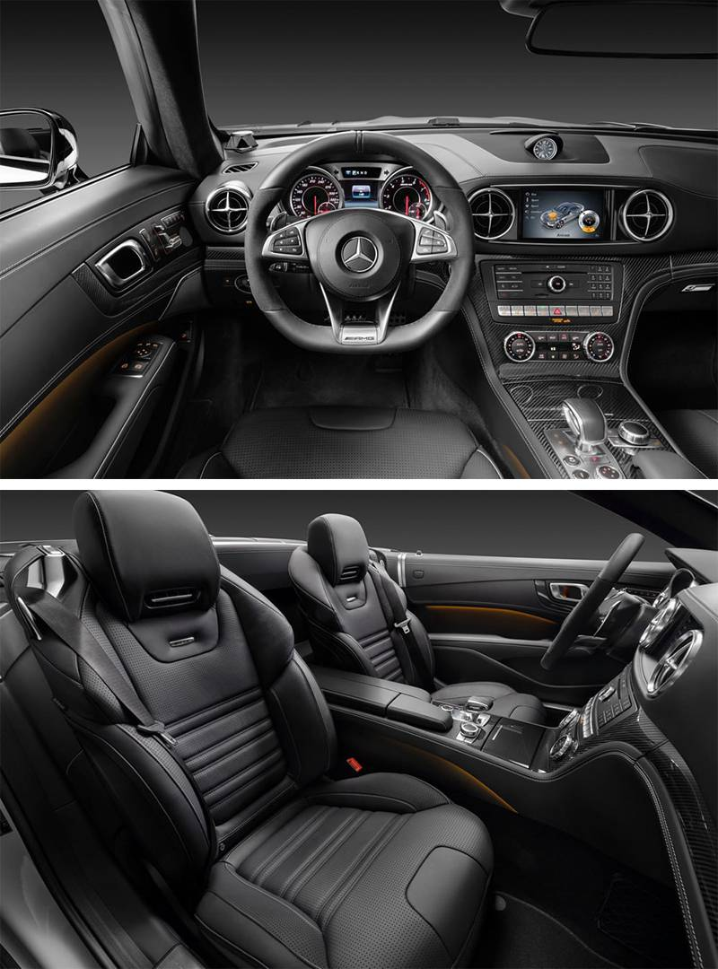 Фото салона Mercedes-Benz SL 2016-2017 модельного года