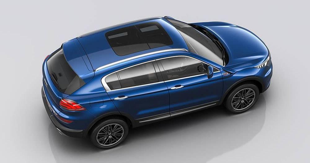 Qoros 5 SUV 2016-2017 модельного года - вид сверху