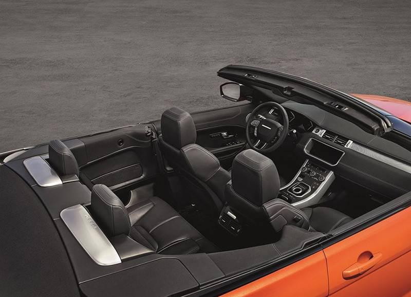 Интерьер Range Rover Evoque Convertible 2016-2017 модельного года
