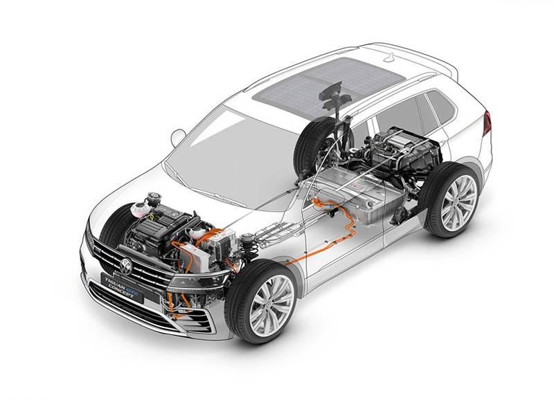 Тележка Volkswagen Tiguan GTE Concept 2015-2016 модельного года