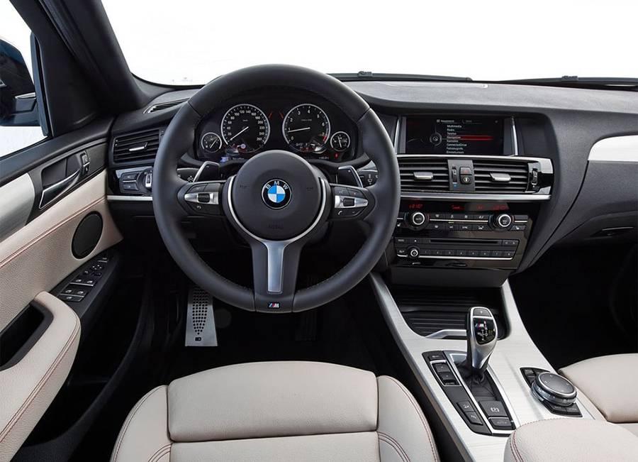 Фото интерьер BMW X4 M40i 2016-2017
