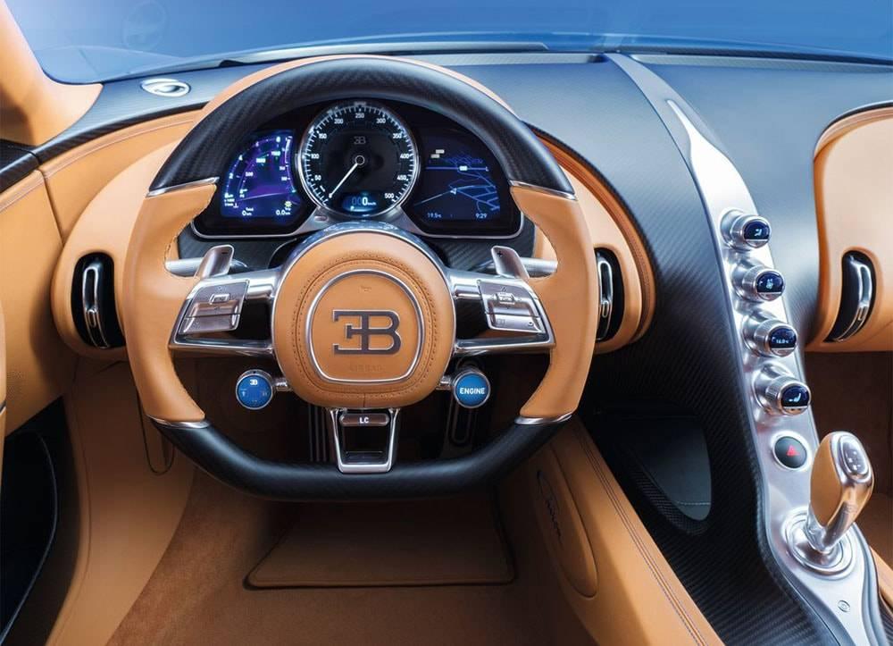 Фото салон Bugatti Chiron 2016-2017 года