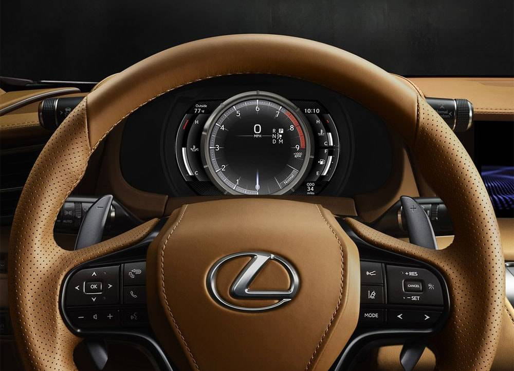 Фото панель приборов Lexus LC 500 2016-2017 года