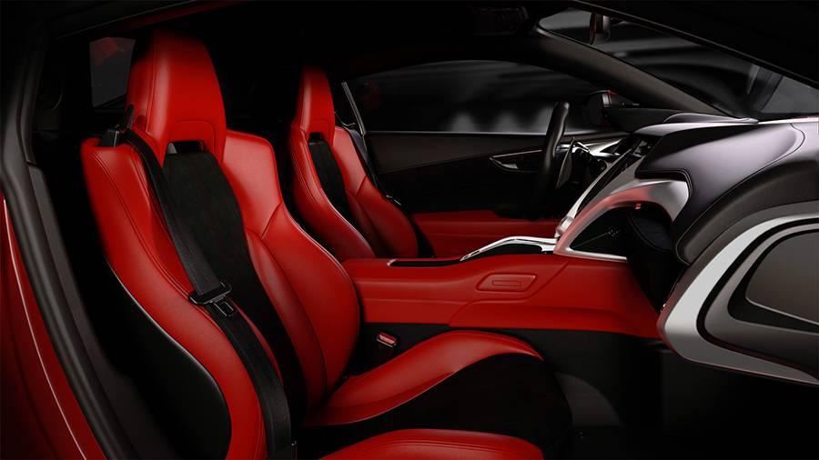 Фото интерьер New Honda NSX