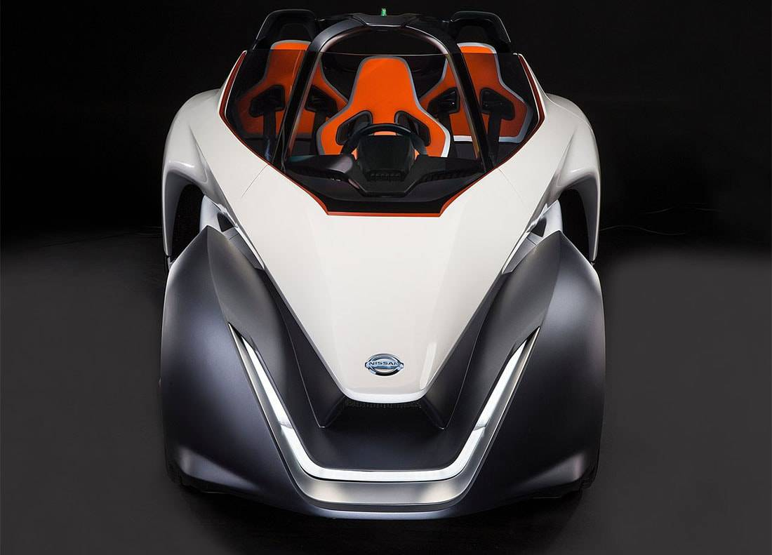 картинки концепта Nissan BladeGlider 2016 (вид спереди)