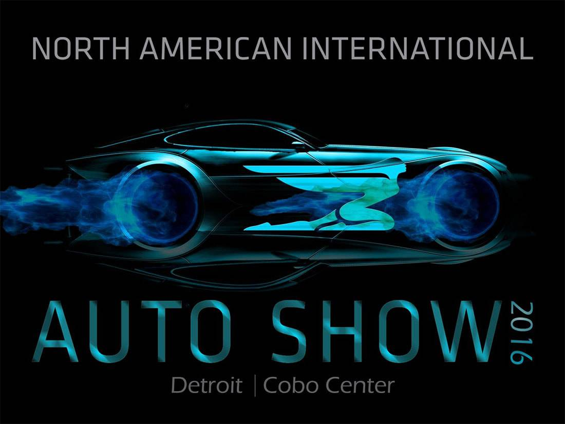 фото с логотипом логотип North American International Auto Show 2016 года