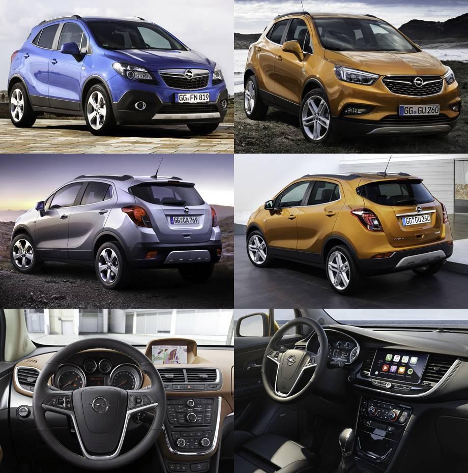 Фото Opel Mokka до и после обновления