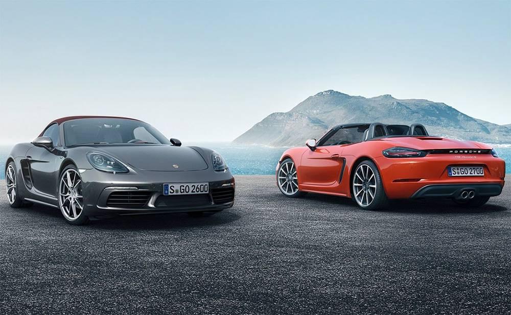 Фото родстеров Porsche 718 Boxster и Porsche 718 Boxster S