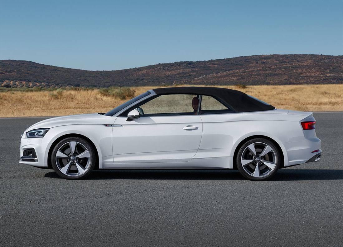 картинки Audi A5 Cabriolet 2017-2018 года вид сбоку