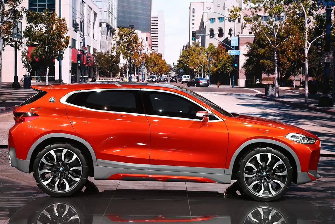 фото BMW X2 Concept 2016-2017 вид сбоку