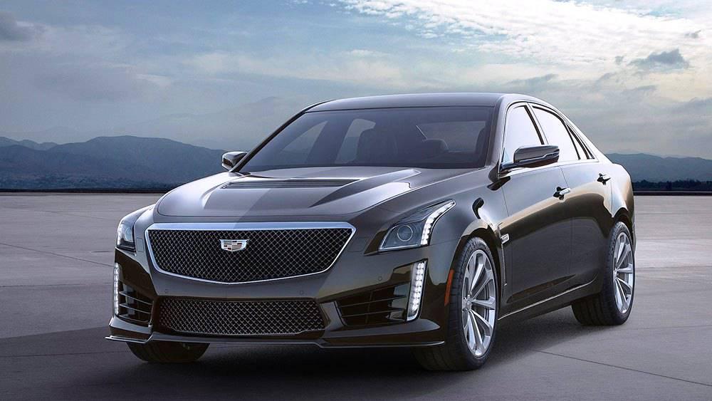 фото Cadillac CTS-V 2016-2017 года вид спереди