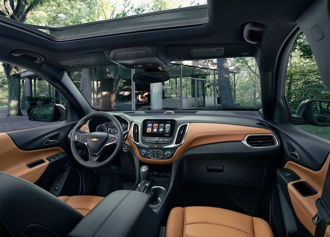 фото интерьера Chevrolet Equinox 2017-2018 года