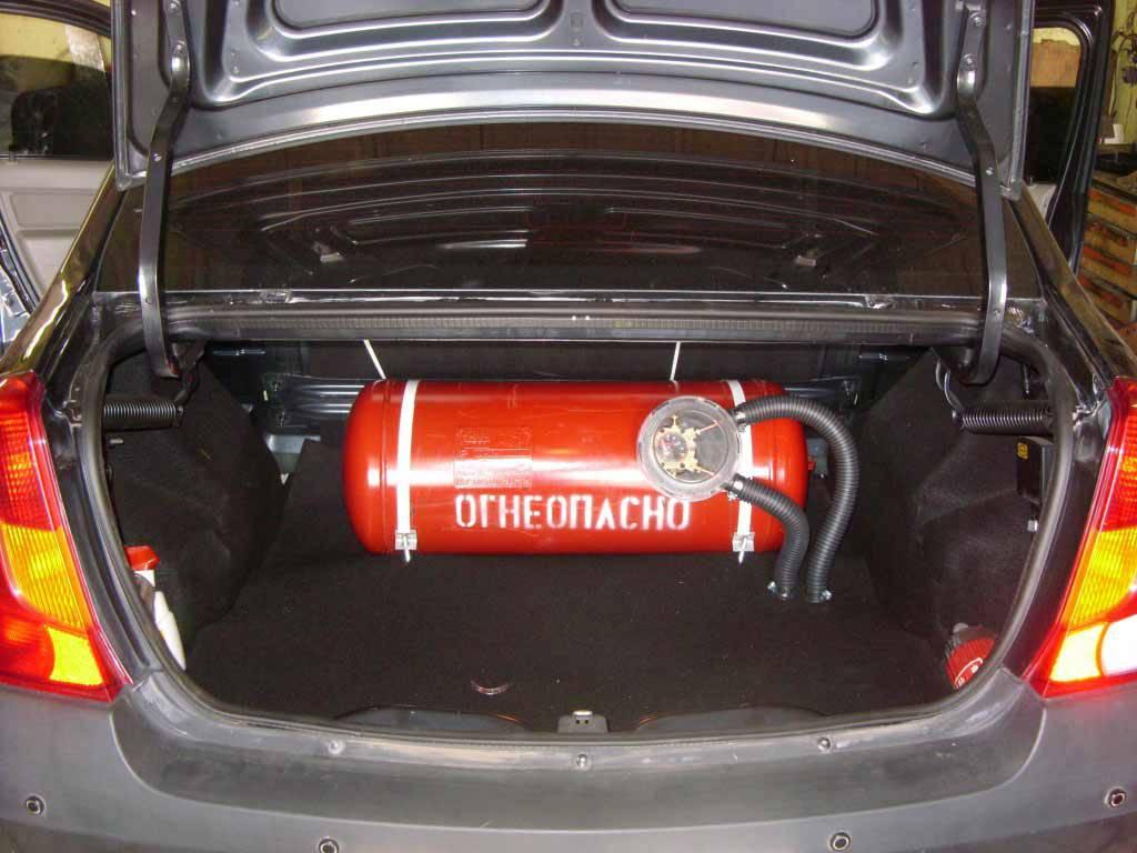 фото газобаллонное оборудование в автомобиле