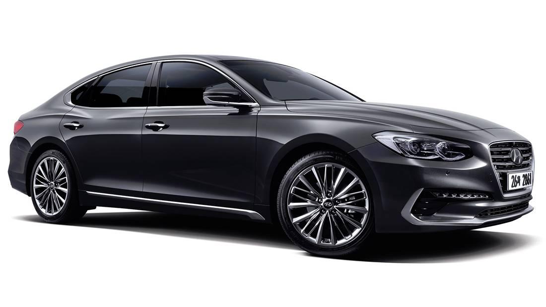 фото Hyundai Grandeur 2017-2018 года вид спереди