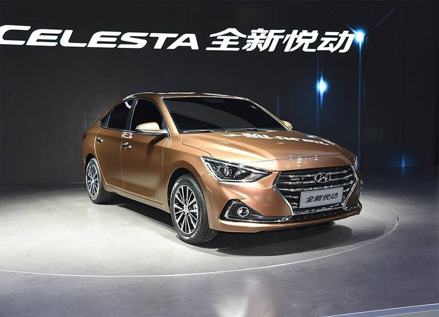 фото бюджетного седана Hyundai Celesta 2017