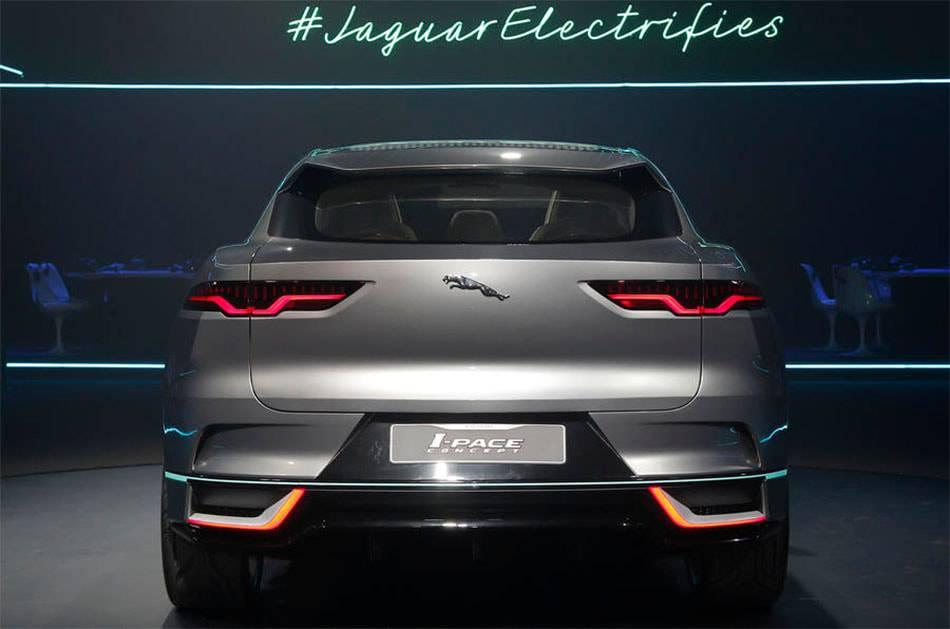 картинки Jaguar I-Pace Concept 2017-2018 вид сзади