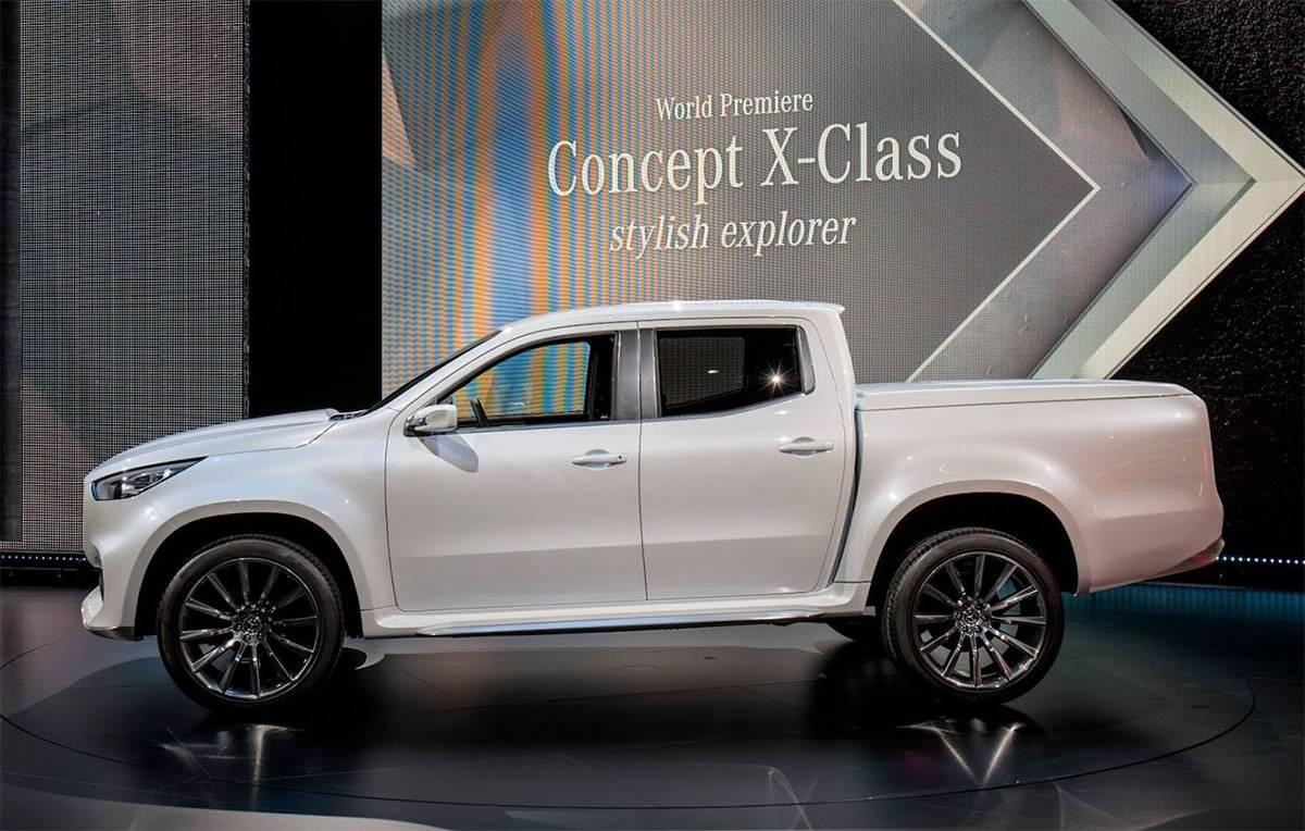 фото Mercedes-Benz X-Class Pickup Concept 2016-2017 года вид сбоку