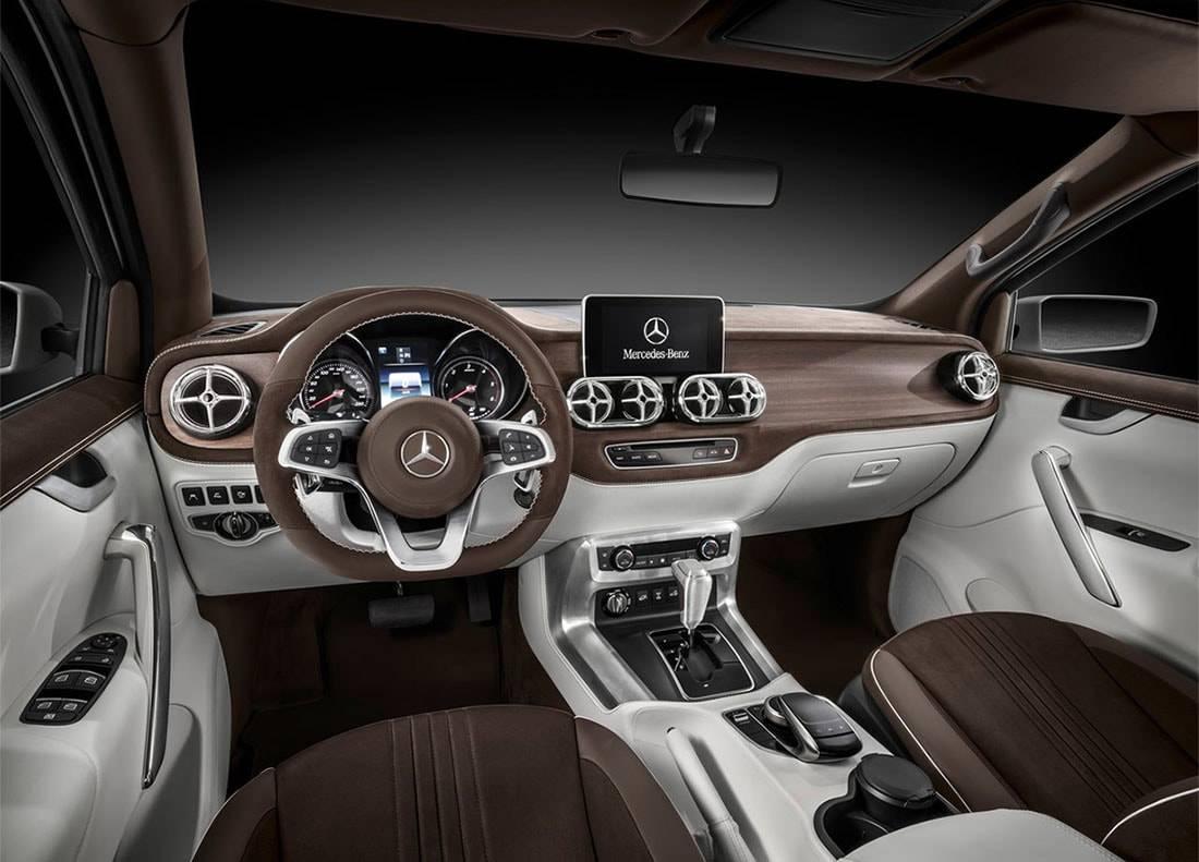 фото салона Mercedes-Benz X-Class Pickup Concept 2016-2017 года