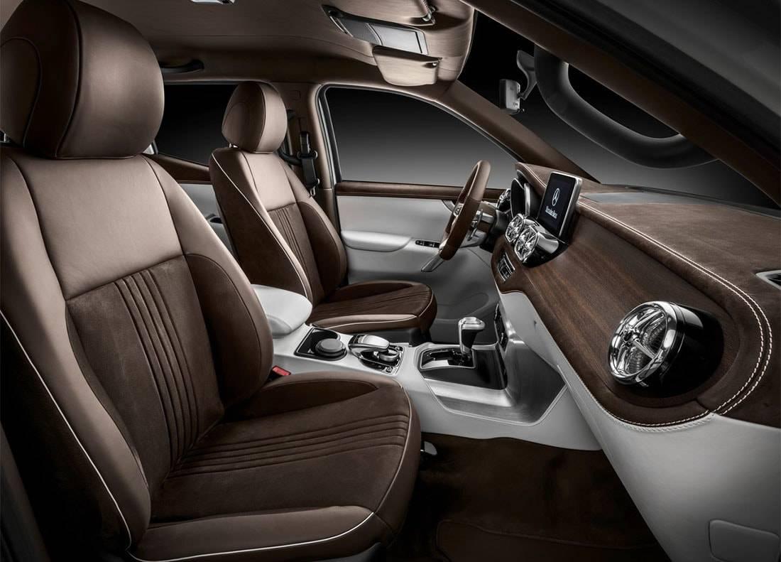 фото интерьера Mercedes-Benz X-Class Pickup Concept 2016-2017 года